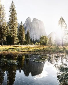 Cathedral Dome reflection (Yosemite, California) by Tanner Wendell Stewart / 500px