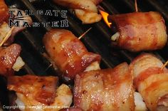 What could be better than shrimp on the grill?? That's right! Shrimp marinated in special sauce and wrapped in BACON! Bacon makes everything better... it's like meat-candy. (For 8 people) 24 Shrimp  12 Strips of your favorite bacon  1/2 cup Soy Sauce  1/2 cup BBQ Sauce  1/2 cup Worcestershire Sauce  1 teaspoon Garlic Powder  Cut the bacon in half. Partially cook the bacon. Wrap the shrimp with the bacon - secure bacon with tooth picks. Combine sauces and garlic powder t...