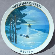 ROSENTHAL-1935-CHRISTMAS-Weihnachten-Plate-Christmas-by-the-Sea Christmas Plates, Worlds Largest, Sea, Decor, Christmas, Decoration, The Ocean, Ocean, Decorating