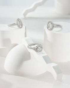 The Lumiere Bridal Collection from William & Son.   Each Lumiere engagement ring has a unique hidden row of pave diamonds on the front of the shank to allow the ring to sparkle from every angle.
