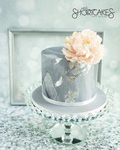 Grey marble and silver leaf, with a hint of pink. #customcakes #missshortcakes #kualalumpur #birthdaycake #cakedesign #cakeart #marblecake #marblegrey #silverleaf #pinkpeony #luxecakes #luxebirthday #exclusivecakes #cakes #cakespecialist #cakesinstyle