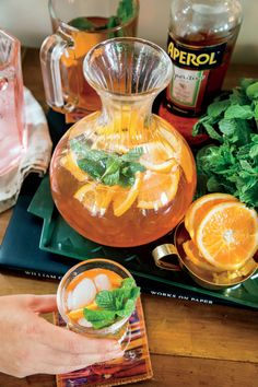 Aperol and Blood Orange-Mint Spritz Recipe