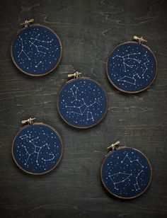 Lots of new stitches to share today. First, my favorite stars pieces, which are made from sky maps of specific nights. These ones ...