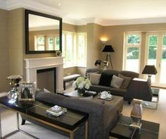 COLOR SCHEME! modern beige black grey white living room