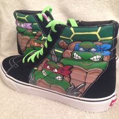 7f00ea0b1ef Teenage Mutant Ninja Turtles custom sk8-hi Vans