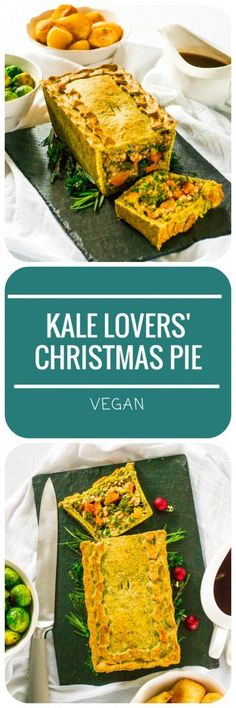 This Kale Lovers' Christmas Pie is the perfect #vegan centrepiece for the #Christmas table for people who love #kale!