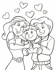 Family Coloring Pages, Truck Coloring Pages, Disney Coloring Pages, Coloring For Kids, Coloring Sheets, Coloring Books, Preschool Bible Activities, Preschool Activities, Bible School Crafts