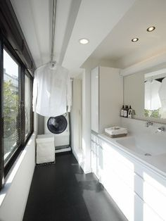 60 drying room design ideas that you can try in your home 26 ~ Litledress Laundry Room Storage, Laundry In Bathroom, Laundry Closet, Small Laundry, Interior Design Living Room, Living Room Designs, Drying Room, Laundry Room Inspiration, Paint Colors For Living Room