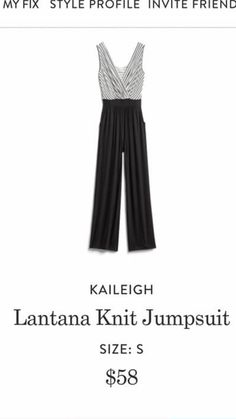 I'd love a jumpsuit, but maybe on that's tapered at the ankles; I'm not a fan of wide-leg pants Fall Outfits, Cute Outfits, Stitch Fix Outfits, Stitch Fix Stylist, Dress Me Up, Types Of Fashion Styles, Daily Fashion, Beautiful Outfits, Blair Fashion