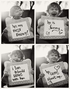 Cute photo idea for a father's day present