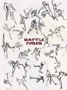 Battle Poses- Kick and Punch by *NebulaInferno on deviantART
