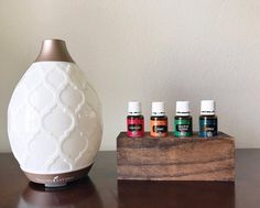 Medium Essential Oil Wood Holder Essential Oil Shelf, Essential Oils, Young Living Diffuser, Bottle Cutting, Aromatherapy Oils, Oil Bottle, Woodworking Projects, Arts And Crafts, Essentials