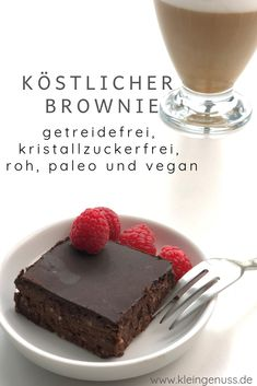 This recipe does not require any grain, is gluten-free, sugar . This recipe does not require any grain, is gluten-free, sugar . Paleo Brownies, Vegan Brownie, Brownie Recipes, Paleo Dessert, Dessert Recipes, Delicious Desserts, Bolo Vegan, Raw Vegan, Brownies Sains