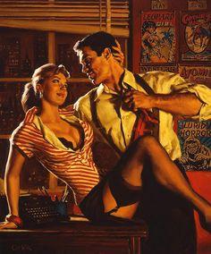 Pulp Cover Art by Glen Orbik Pulp Fiction Art, Pulp Art, Pub Vintage, Vintage Art, Dibujos Pin Up, Serpieri, Rolf Armstrong, Robert Mcginnis, Pulp Magazine