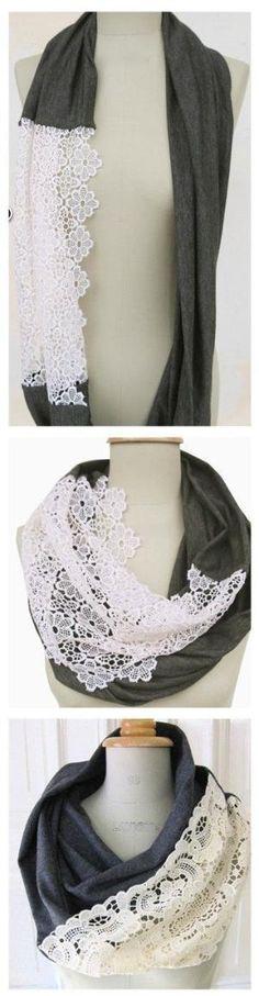 DIY scarf. Pretty, pretty. by judy.mullen.7