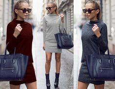 KOBIECA SUKIENKA TUNIKA KLASYCZNA JESIEŃ BLOG P609 / TUNIC DRESS WOMEN FALL CLASSIC BLOG P609