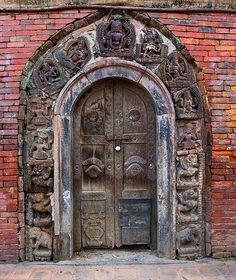 Door of the Taleju Temple    Nepal, Patan - Taleju temple of the royal palace, 1640.