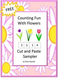 "Free : FREE Counting Fun With Flowers Cut and Paste Worksheets Sampler. With this Sampler you will receive two (2) worksheet. The Full version of Counting Fun With Flowers Cut and Paste Worksheets contains 22 pages. Counting Fun With Flowers is a fun way for them to develop their math skills.Enjoy this Sampler with your students. All I ask in return is to please click on the ★ above to ""Follow Me"" to receive updates on new products and free downloads. Thank you, Rose."