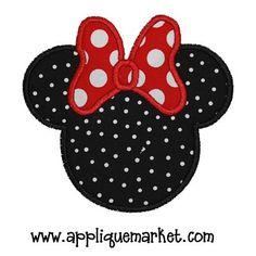 mouse ears applique design                              …