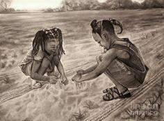 Grandmas Sand Drawing  - Grandmas Sand Fine Art Print