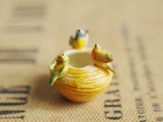 Cerâmica Pássaro ornamentos pot - Atelier Vanilla (Atelier de baunilha)