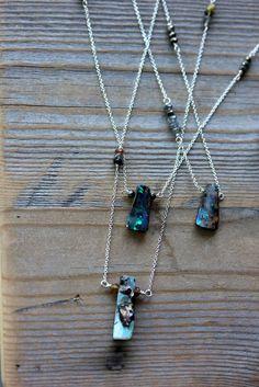 Ready To Ship Australian Boulder OpalNecklace by onegarnetgirl, $148.00