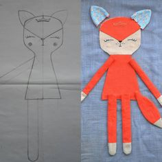 Wip tryingsomethingnew 🐾 i started this about a week ago i am a cat person i have 3 and i was curious to see how my doll pattern would… Pdf sewing pattern for blank cat doll for crafting 37 cm 14 5 inches diy tutorial ready to print for cloth doll Me Animal Sewing Patterns, Doll Patterns, Pattern Sewing, Clothing Patterns, Softies, Couture Main, Fabric Animals, Fabric Toys, Cat Doll