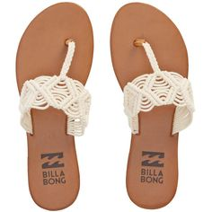 Billabong Women's Setting Free Sandals ($40) ❤ liked on Polyvore featuring shoes, sandals, footwear, natural, billabong sandals, billabong shoes and billabong