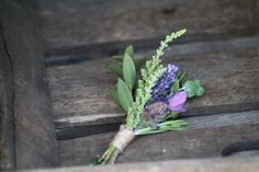 Lavender, rosemary and heather buttonhole