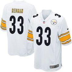 1470abddf New Nike Steelers 33 Isaac Redman Nike Elite Jersey White NFL Jersey  Edelman Jersey