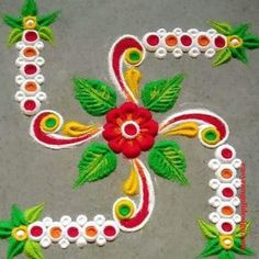 50 Sita Navami Rangoli Design (ideas) that you can make yourself or get it made during any occasion on the living room or courtyard floors. Simple Rangoli Designs Images, Rangoli Designs Flower, Rangoli Ideas, Rangoli Designs Diwali, Diwali Rangoli, Beautiful Rangoli Designs, Indian Rangoli, Easy Rangoli, Mehndi Design Photos