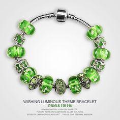 2015 New Luminous Glass Bracelet Original Handmade Jewelry DIY Creative Female Hand Jewelry European And American Style Green from Autolook66,$9.95 | DHgate.com