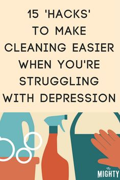 'Hacks' to Make Cleaning Easier When You Have Depression…!' (via The Mighty) 'Hacks' to Make Cleaning Easier When You Have Depression…!' (via The Mighty) Cleaning Checklist, House Cleaning Tips, Deep Cleaning, Spring Cleaning, Cleaning Hacks, Diy Hacks, Cleaning Schedules, Cleaning Crew, House Cleaning Motivation