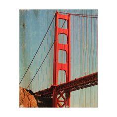 International Orange: Golden Gate Bridge - Rectangle