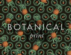 textile design : Fruit botanical print