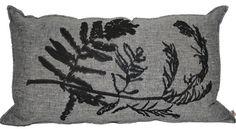 Fern Embroidery 1 Gyrosorium Charcoal