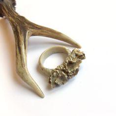 Mens antler ring, Handmade boho Ring for men, Rustic Jewelry, Deer antler ring, Antler jewelry, Woodland, Forest, Handmade ring, MariyaArts by mariya4woodcarving on Etsy