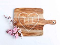 Engraved Bamboo Chopping Board, Personalised Cutting Board, Chevron Snowflake…