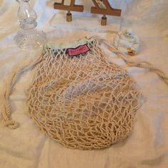 Juicy Couture Rope Beach Bag. Perfect for Summer! With a loose rope weave and a beach you feel, this bag is perfect for carrying your summer essentials. No trades Juicy Couture Bags Totes