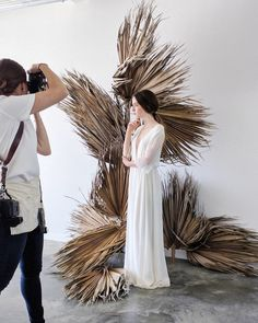 Dried Palm Leaves Are the Latest Wedding Decor Trend