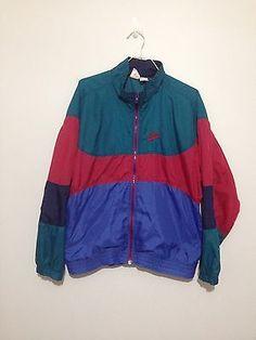 12410ac36fe24 Vintage NIKE Air Jordan coupe-vent Nike Swoosh veste sport nylon ...
