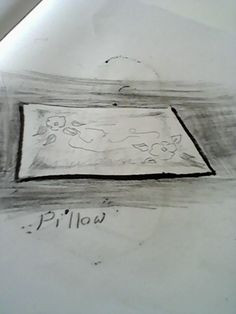My sketch design for a pillow ( create in Cinema 4d)