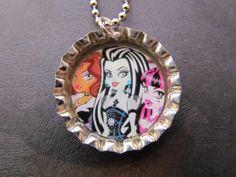 bottle cap jewelry | Monster High Bottle Cap Necklace
