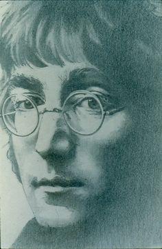 """John Lennon"" drawing 12x14"