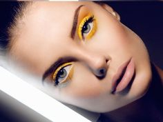 Beautiful use of yellow. Learn how to become a makeup artist online. GO HERE www.temacourse.com
