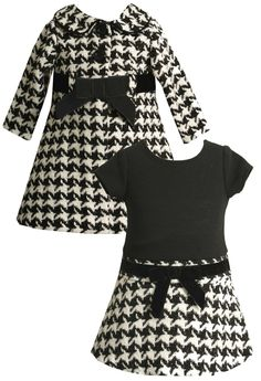 Houndstooth Coat and Dress Set