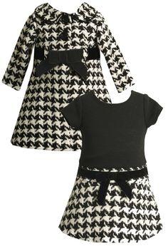 Houndstooth Coat and Dress Set