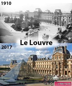 Then And Now Pictures, Old Pictures, Beautiful Paintings Of Nature, Places To Travel, Places To Visit, Paris France Travel, Louvre, Old Paris, Photos Voyages