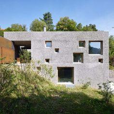 Different Concrete Home Deflate With Square Windows | Devparade