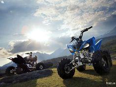 Blue Quad bikes